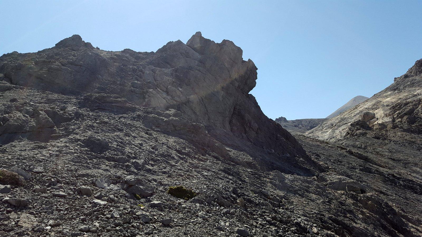 La formazione rocciosa aggirata