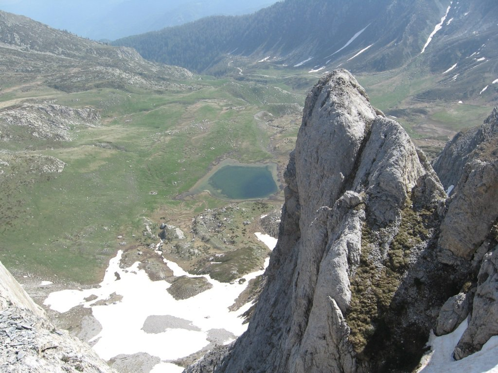 Lago Raschera dall'alto