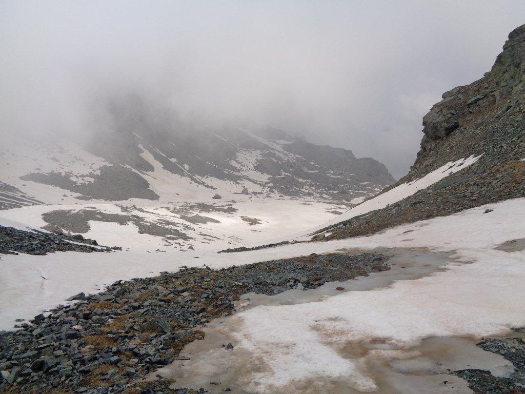verso la Val Pellice dal colle