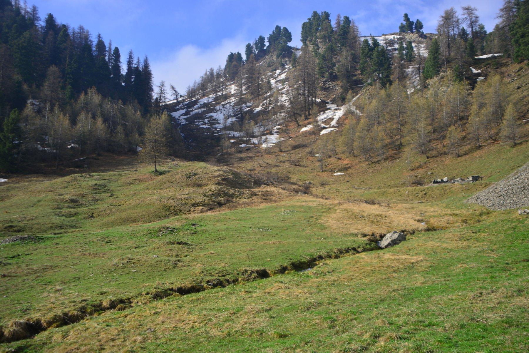 canale di salita dal vallone