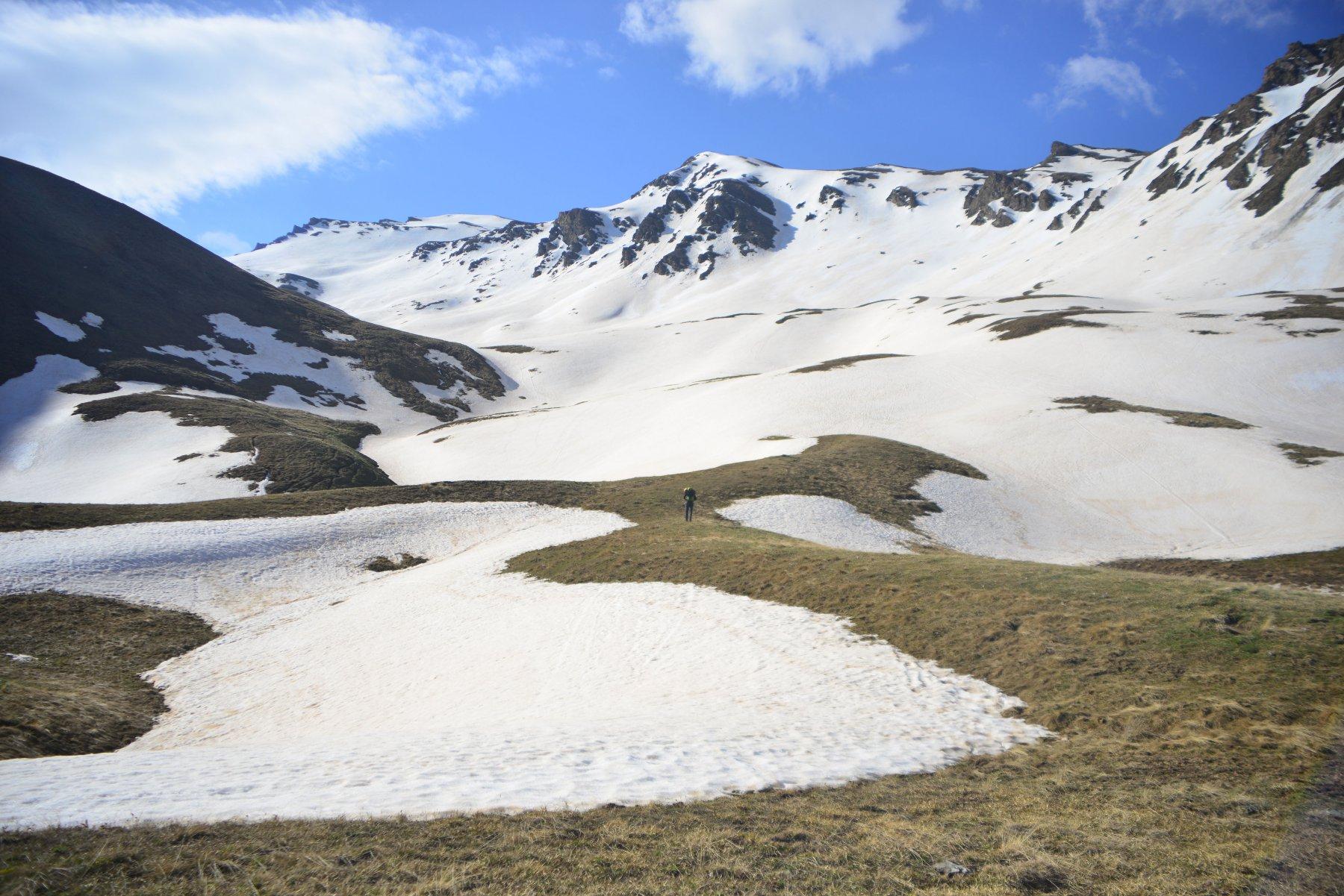 inizio neve sul pianoro superiore