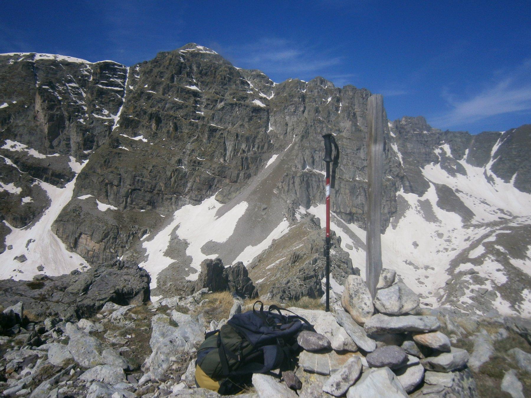 La parete Est del m. Bego dalla cime de Valaurette