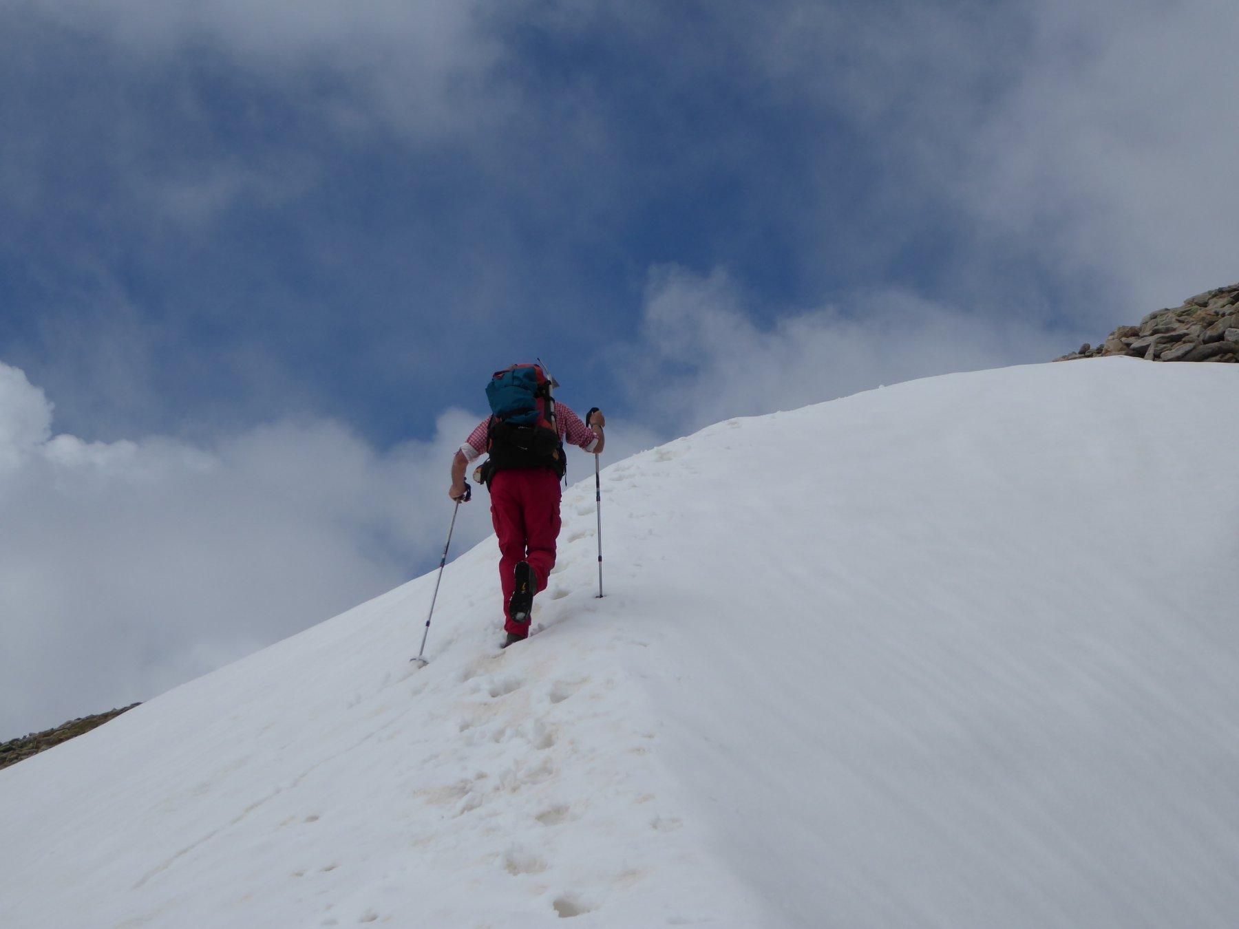 ultimo nevaio prima della cima