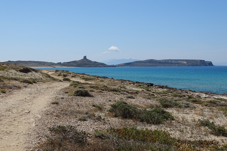 la penisola di Capo San Marco vista in prossimità di Funtana Meiga