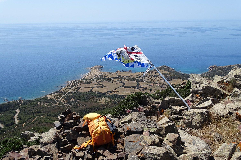 panorama su Capo Pecora dalla vetta