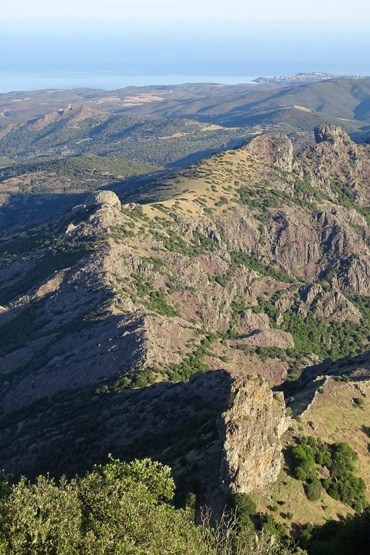 la cresta in direzione del Genna Limpia vista dalla punta