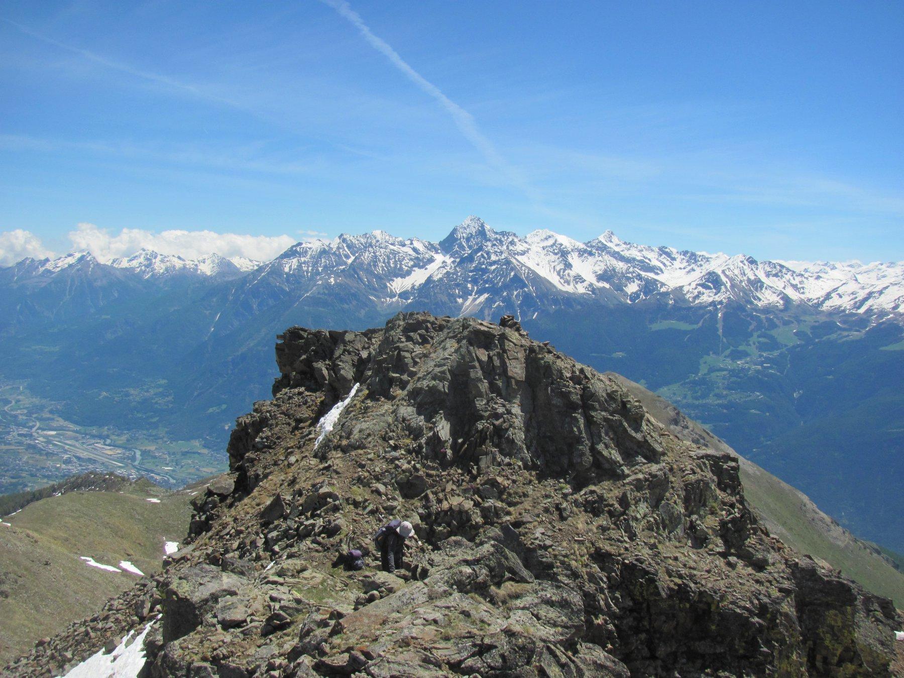 La cima più alta, verso la valle principale