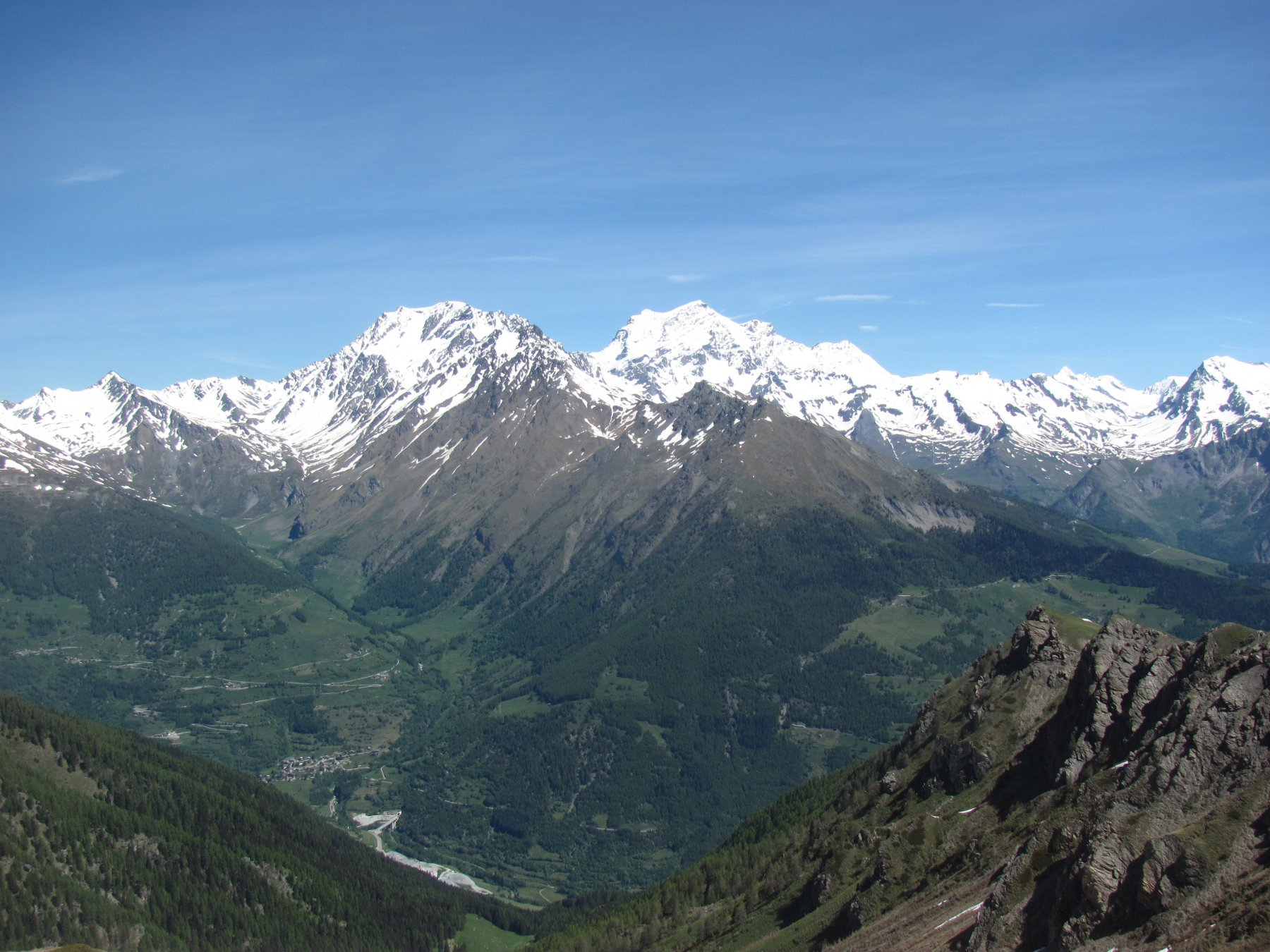 Panorama, con M. Velan e Combin, dal Passo Tardiva