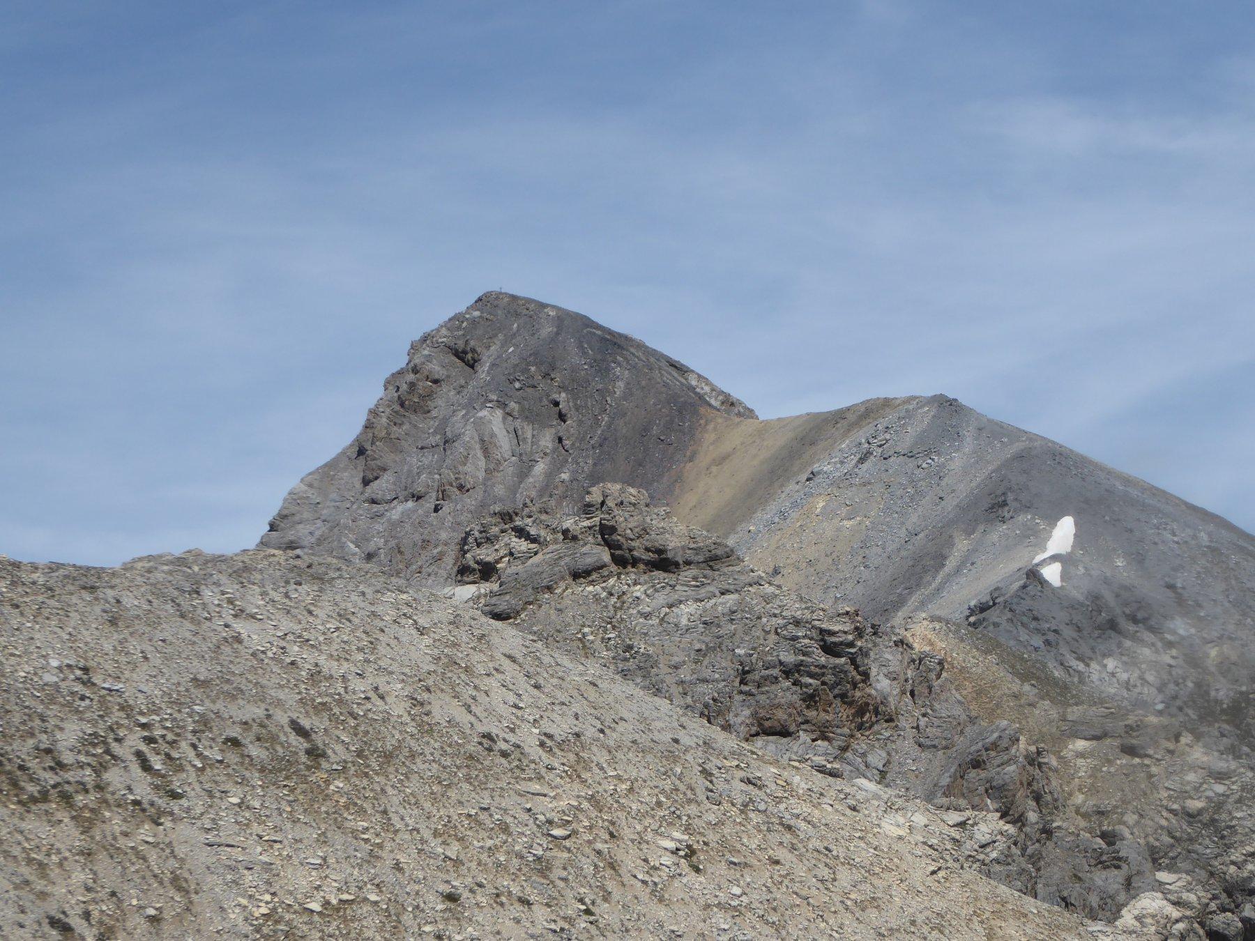 la cresta di salita al Cassorso