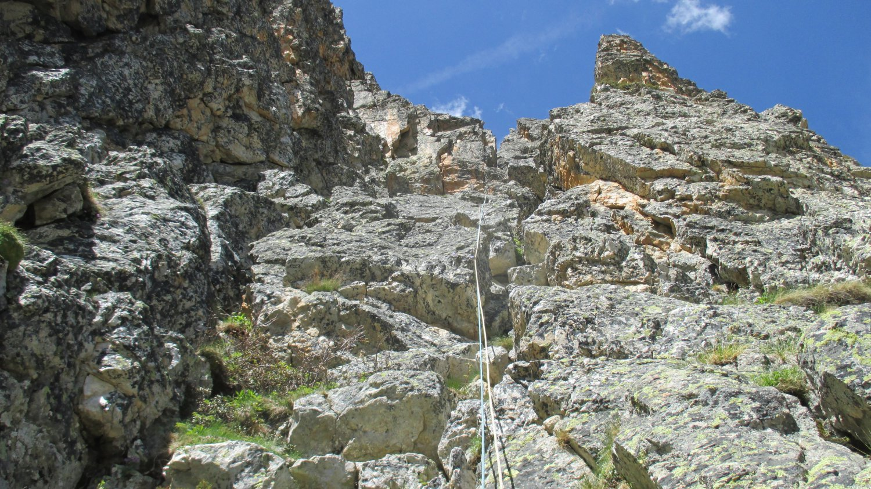 Il camino prima della cresta