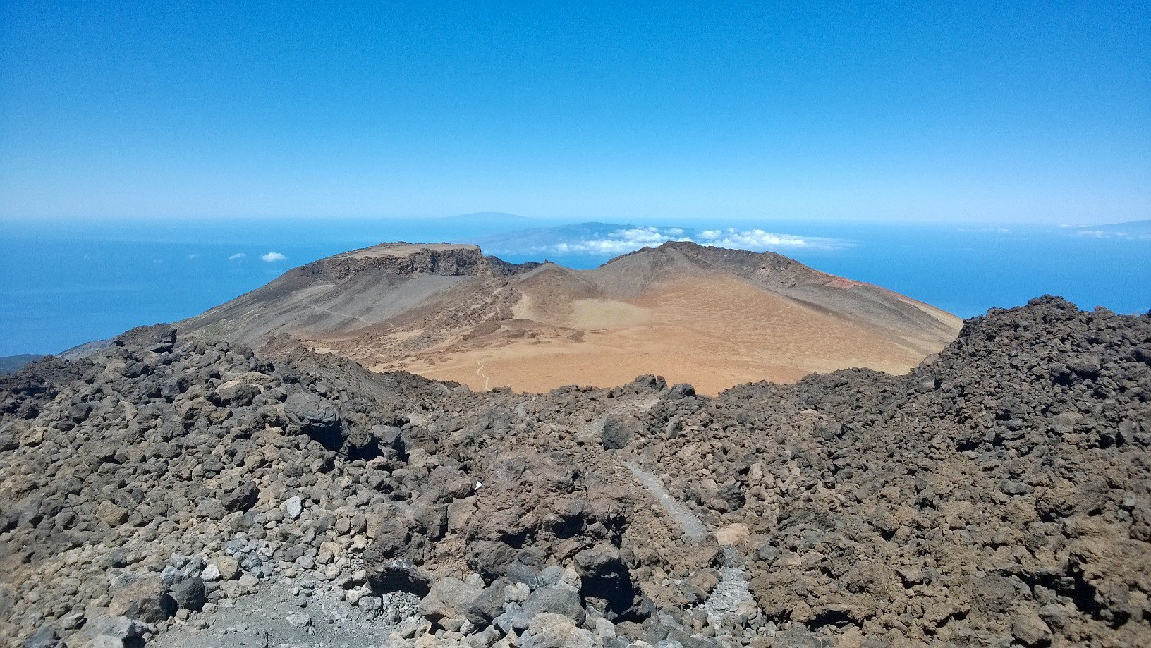 Il cratere del Pico Vejo