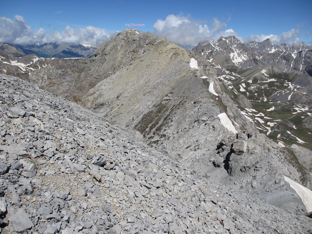 La Aig.d'Oronaye e la cresta