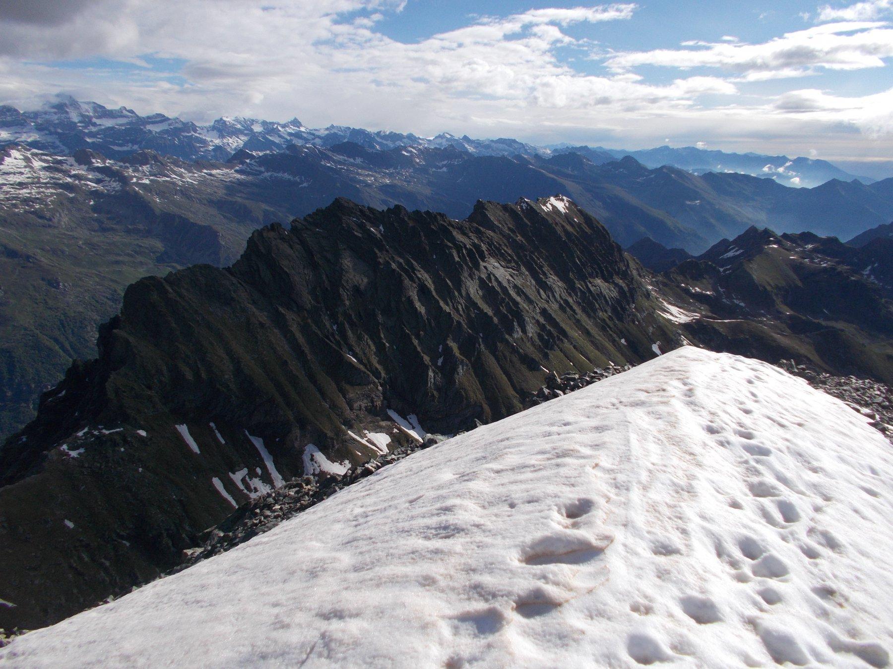 la cima Leitosa dall'Uja di Mondrone..