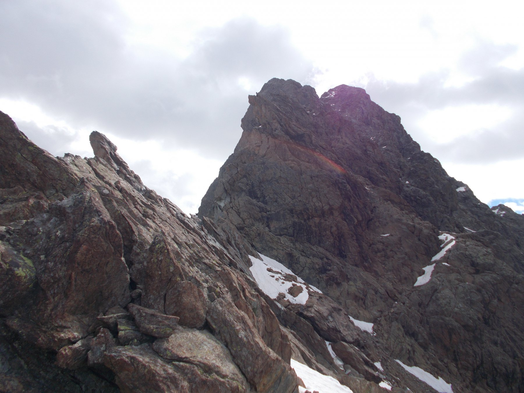 dal colletto q.2700m..tutta la cresta ovest..appena discesa..