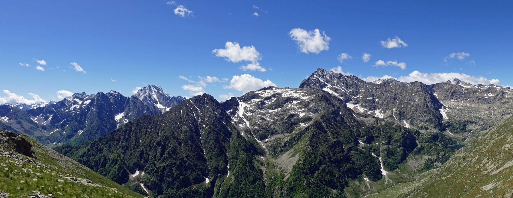 Panoramica sulla valle Gesso dal Bourel