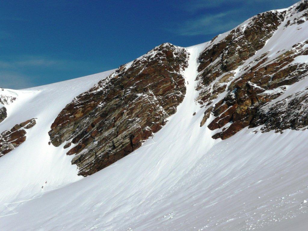 Alcuni prendono la scorciatoia per il ghiacciaio del Lys
