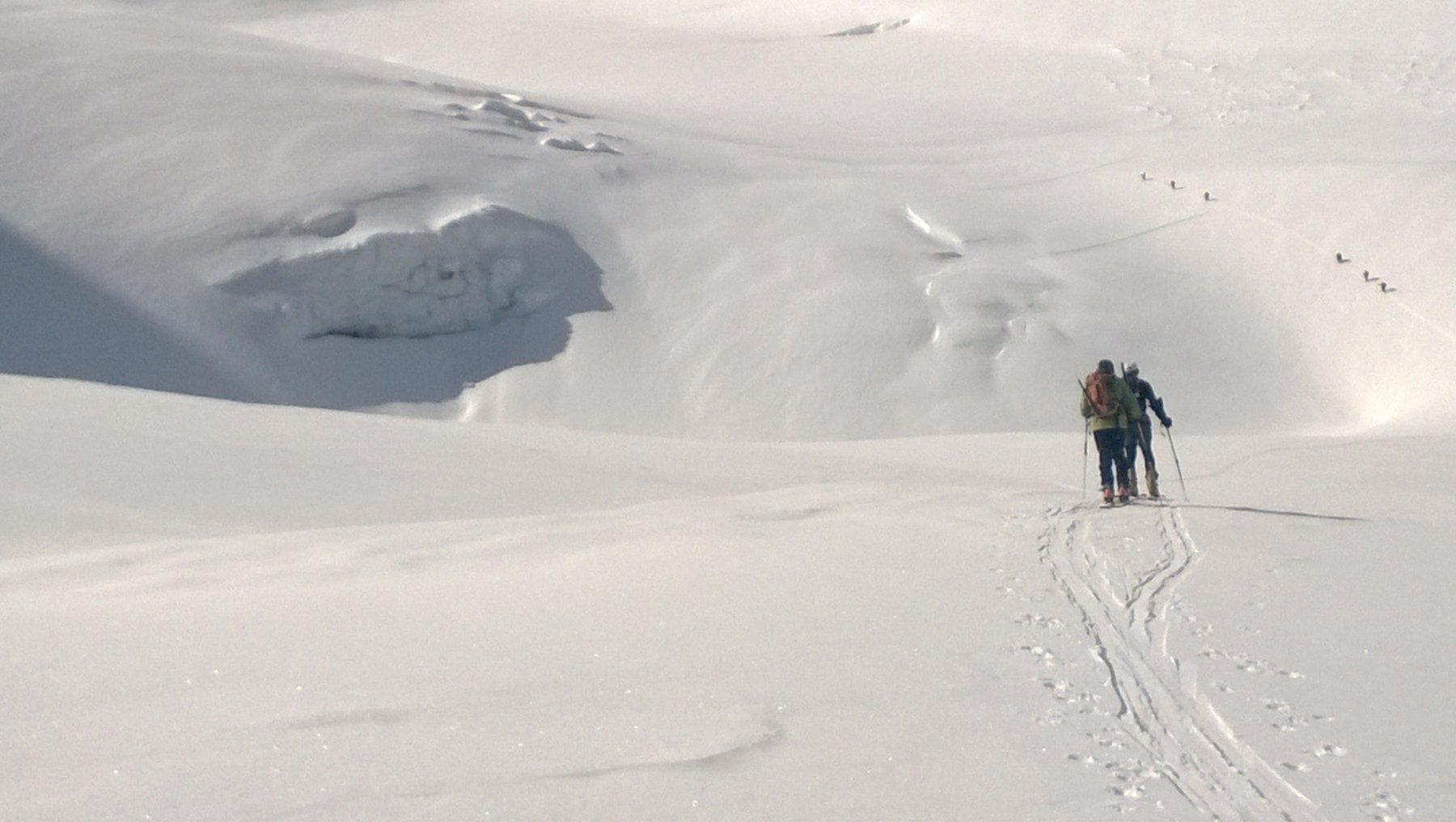 Sul ghiacciaio