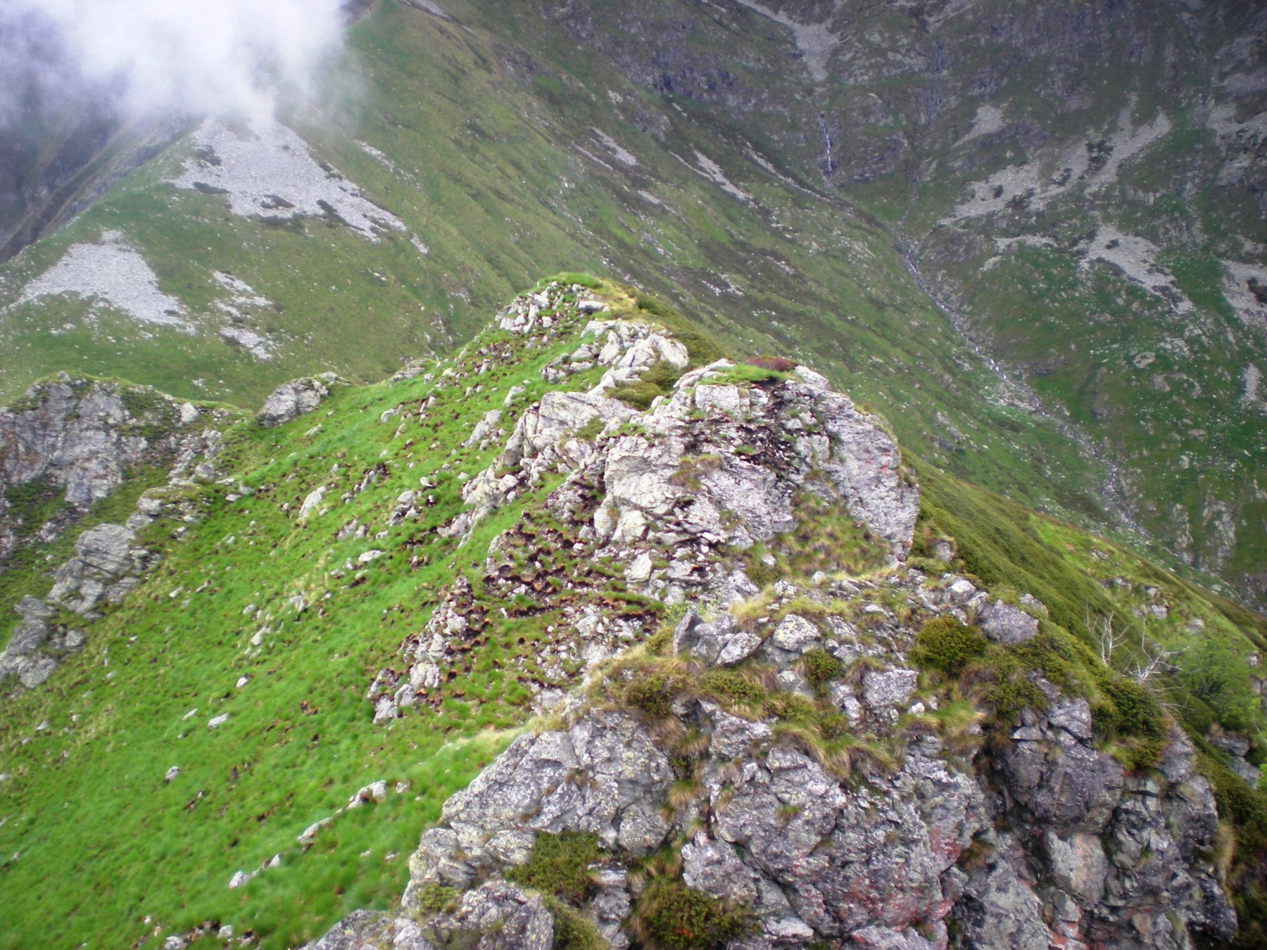 affioramenti rocciosi della cresta nord