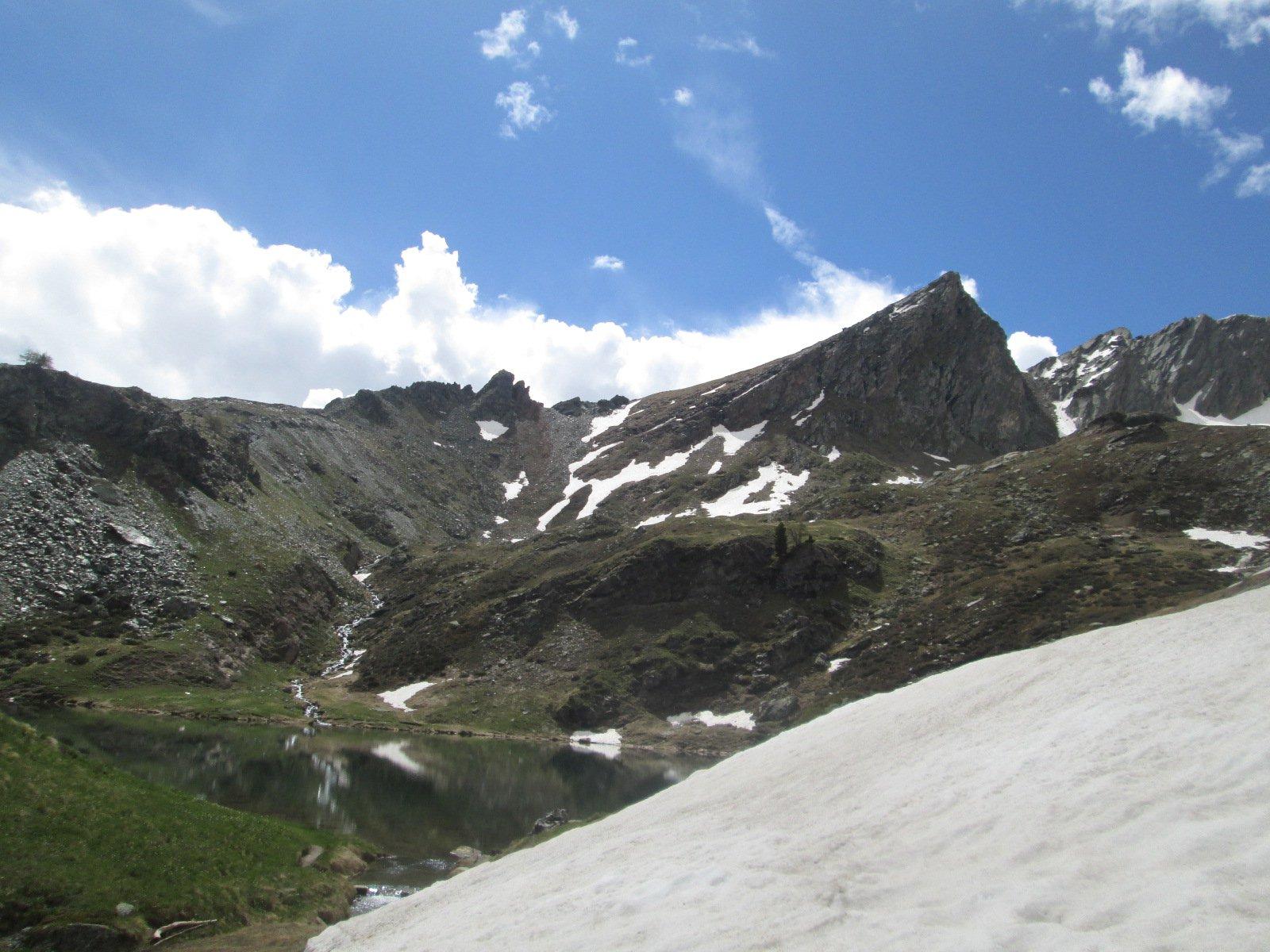la cima dal lago delle Loie