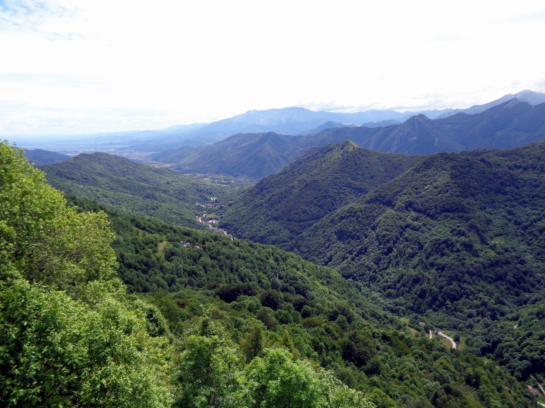 panorama sul vallone di Valloriate
