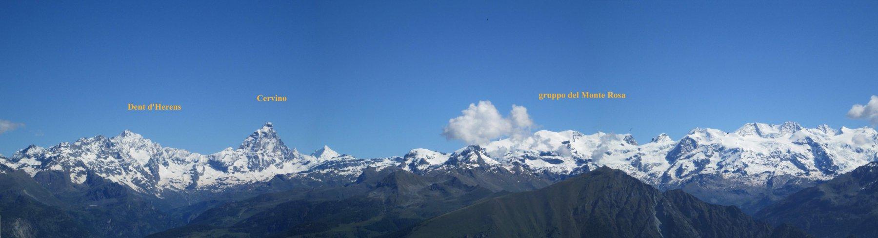 panorama sul Cervino e sul Monte Rosa