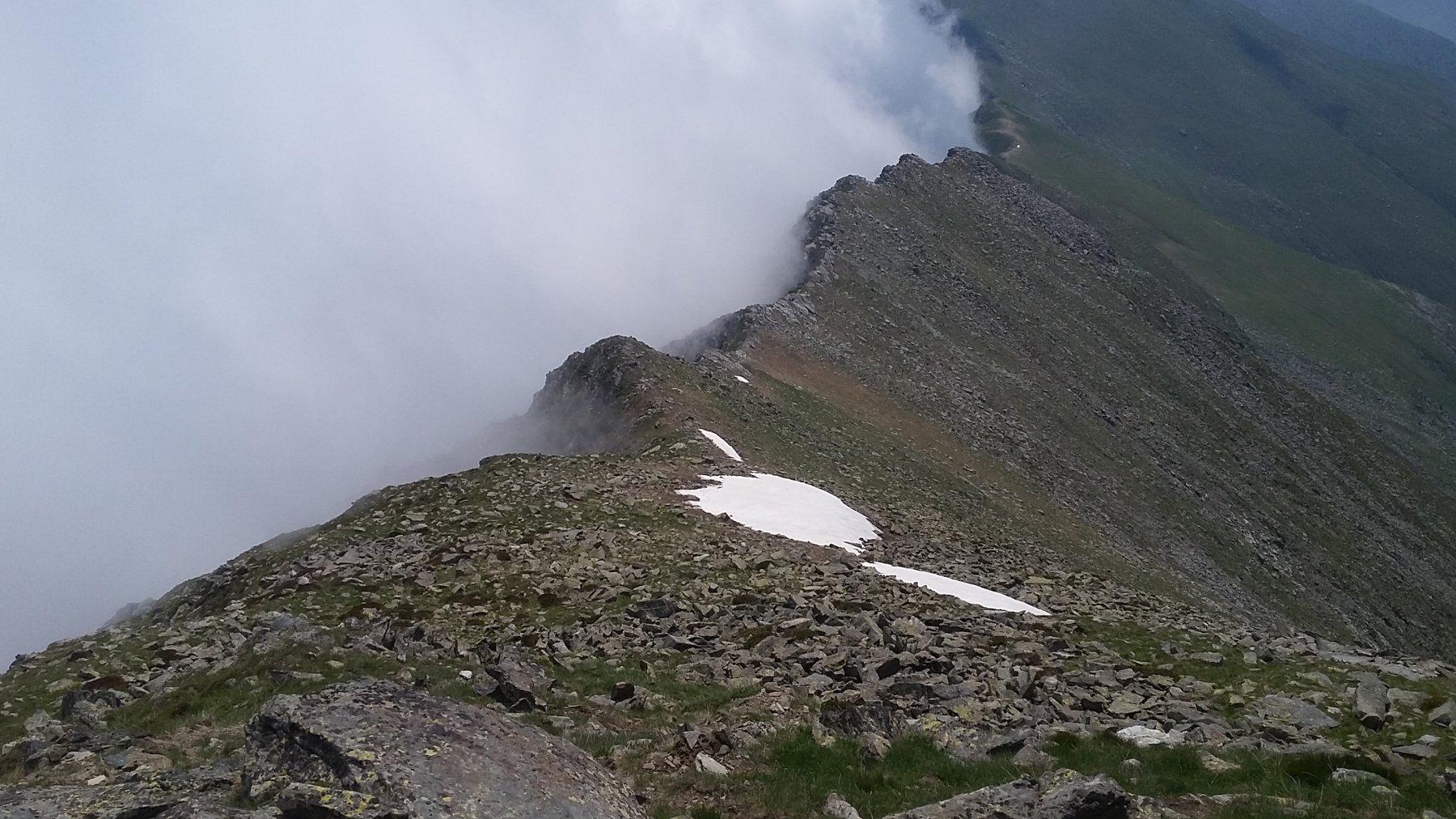 la cresta resiste alla nebbia