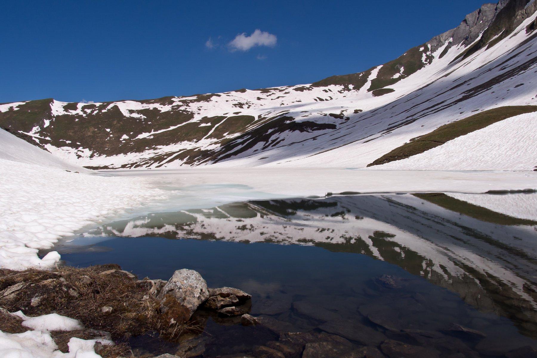 Il Lago ancora gelato