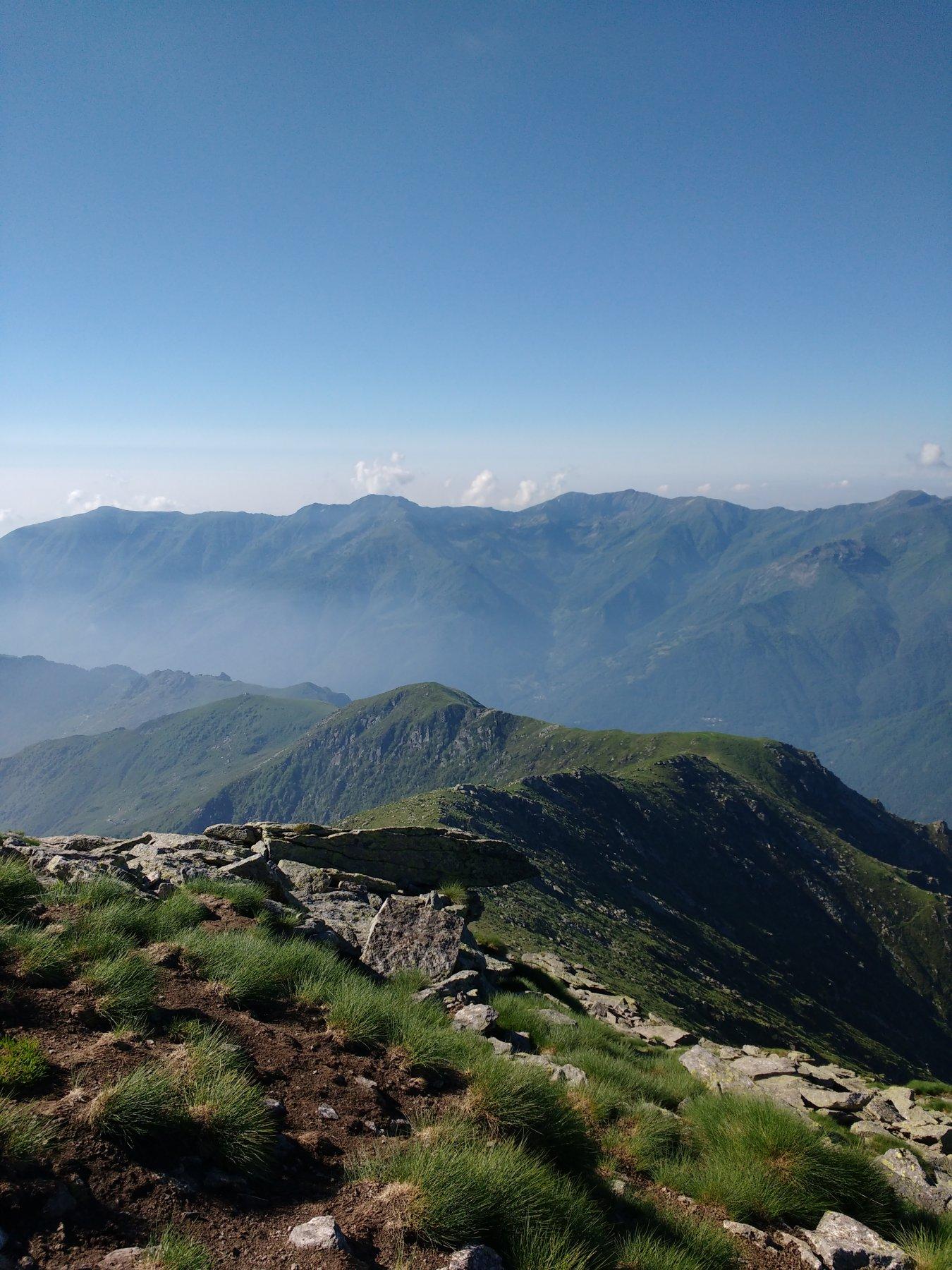 La cresta verso l'Arzola