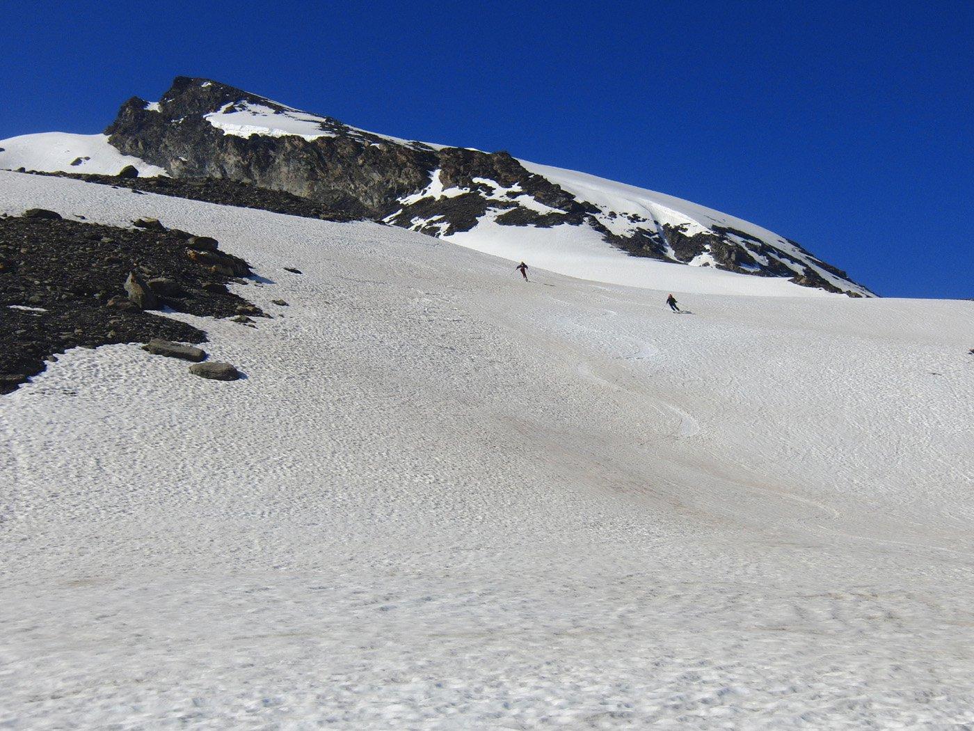 Ottima neve nel versante Grand Vallon