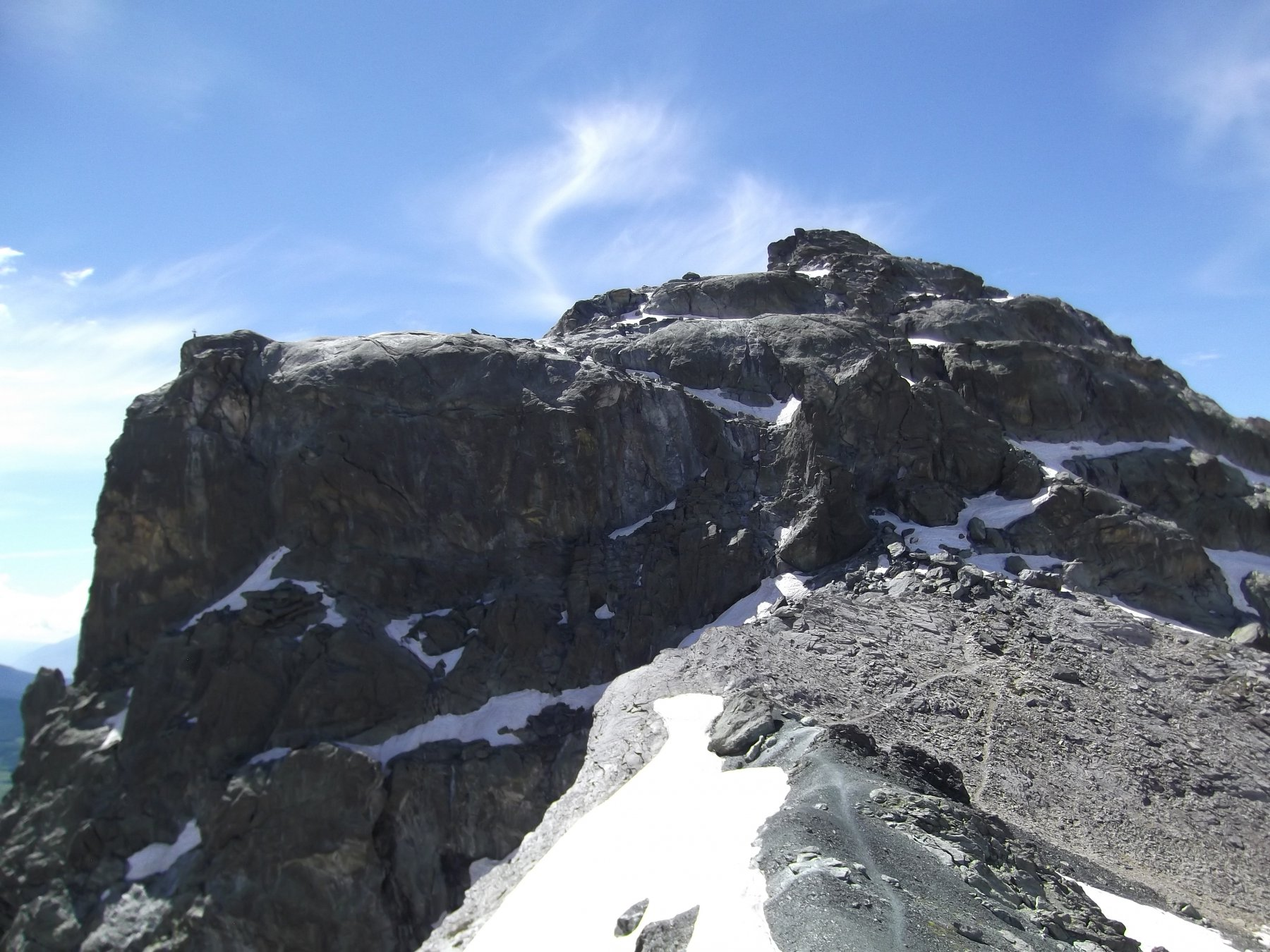 Rocca Bianca e la parte alpinistica.