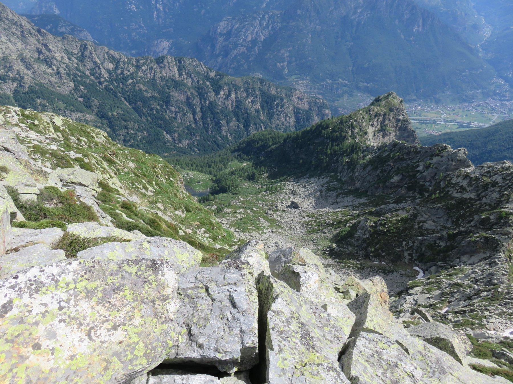 E giù verso il Monte Bo