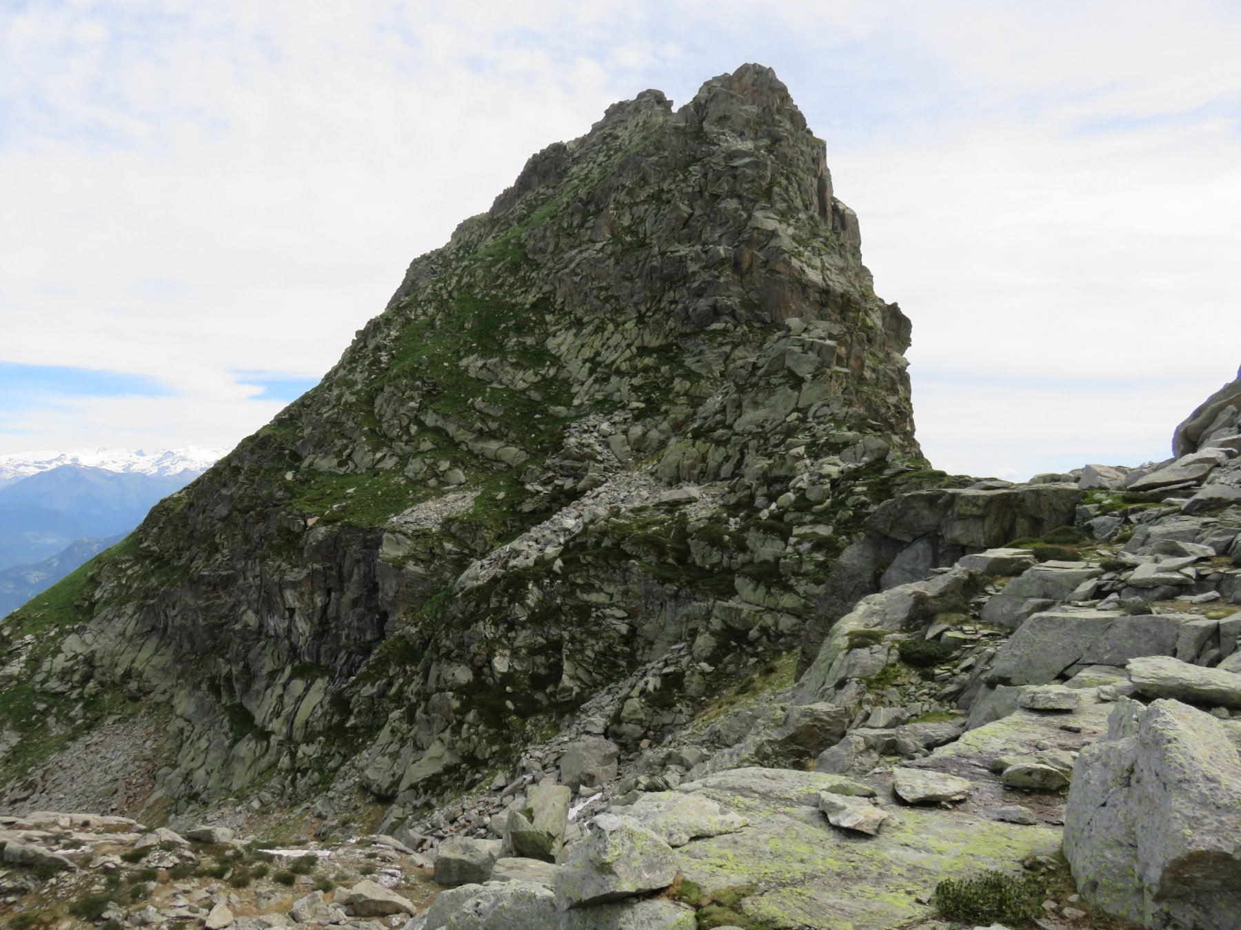 Cima dei Camosci: versante ovest di salita