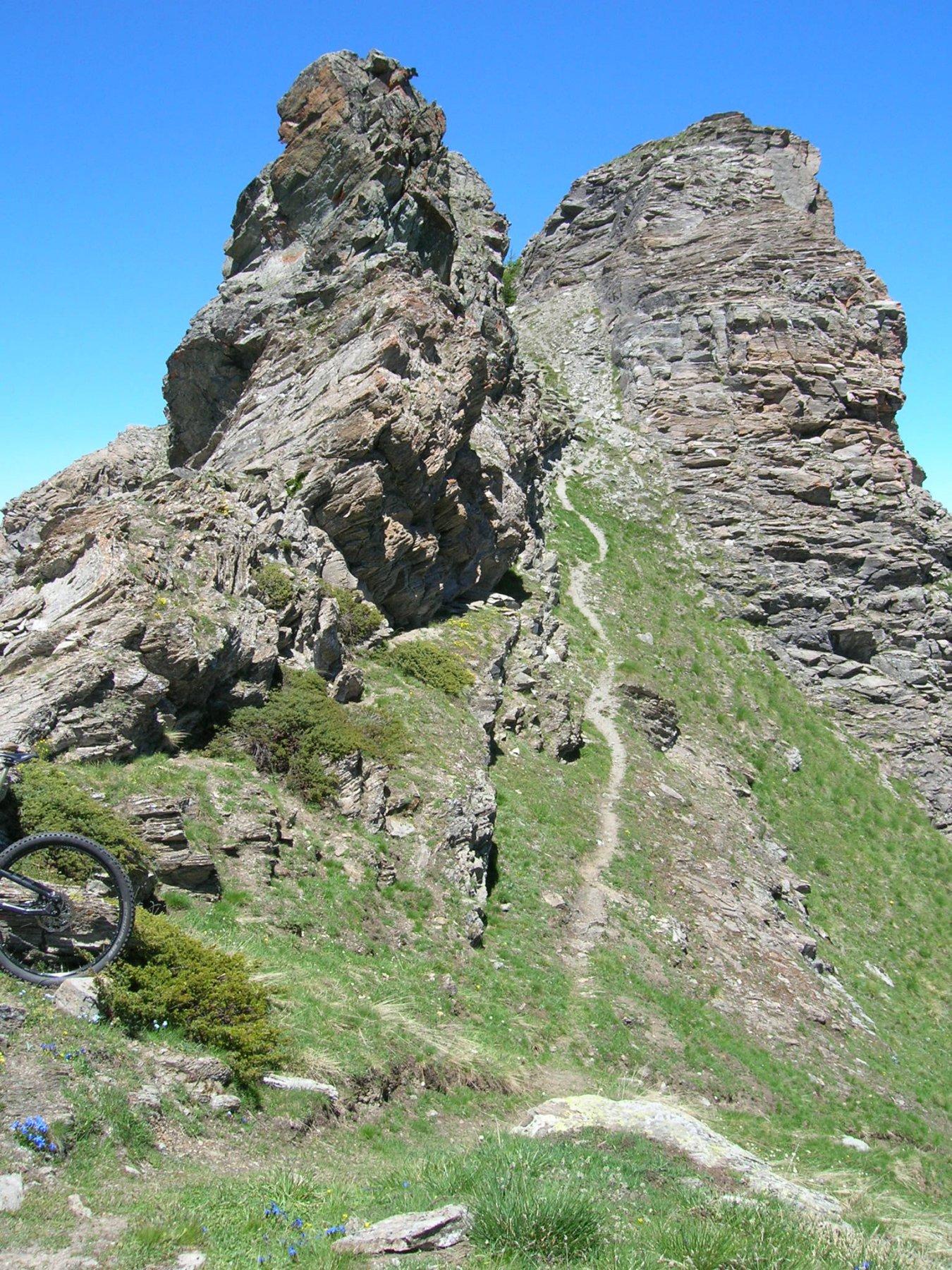 sentiero dal Colle di Crotey