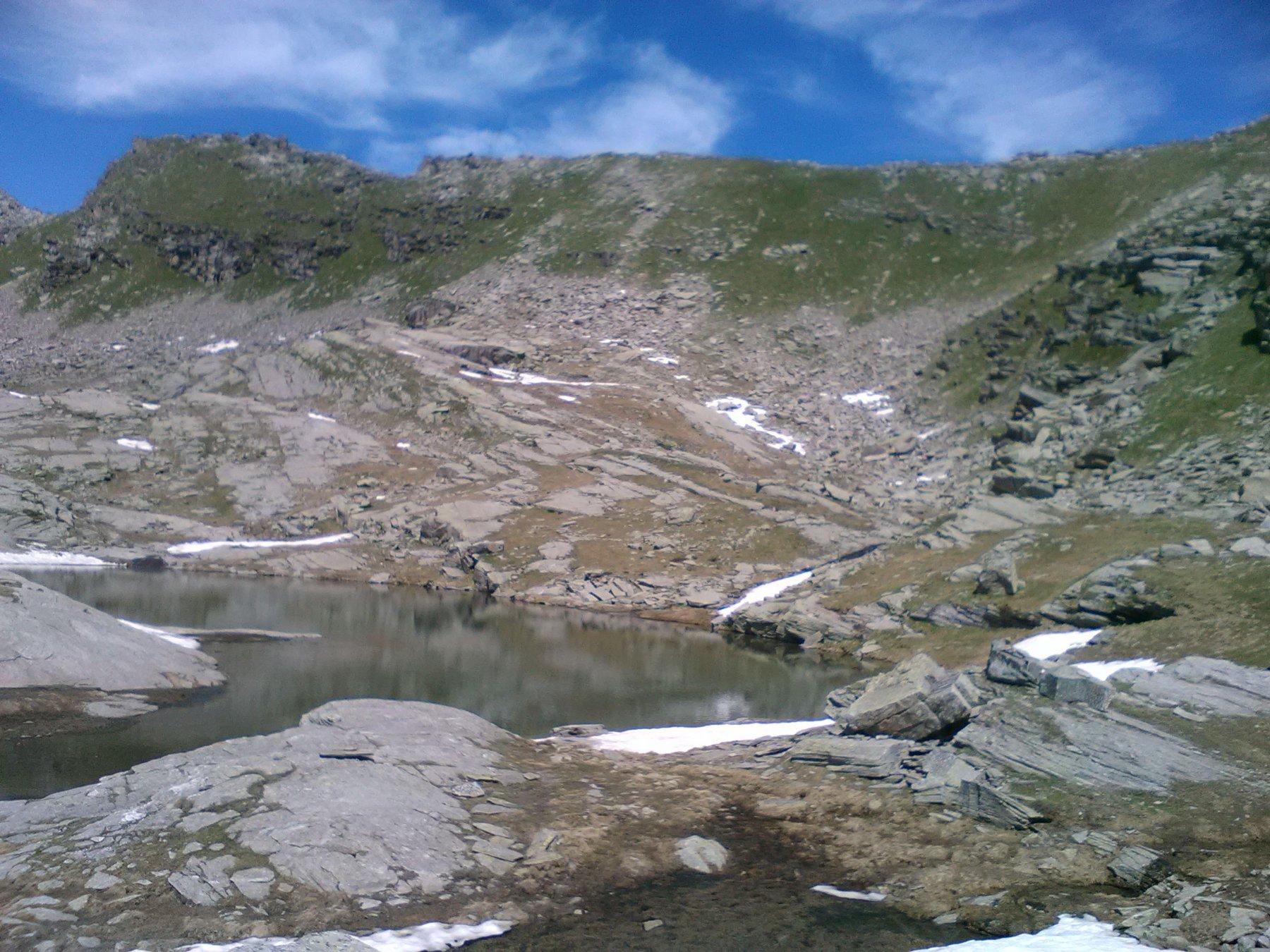 Lago di Vercellina, prima del colle