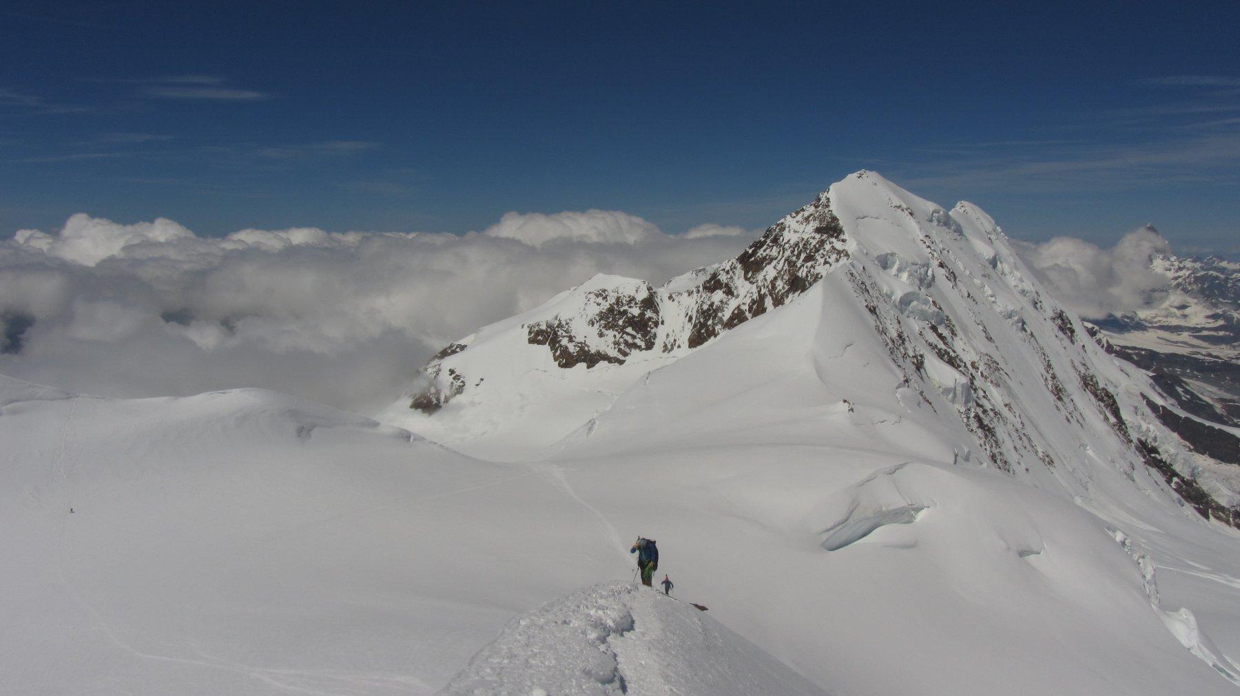 Vista sui Lyskamm dalla Parrot