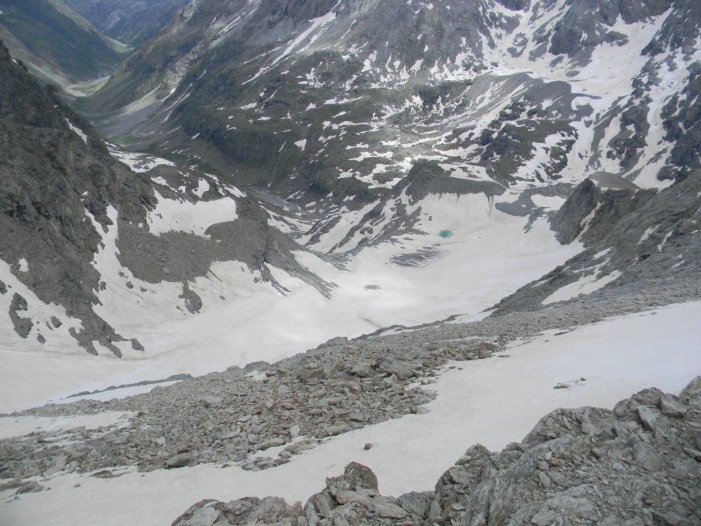dalla vetta le glacier D'Ambin risalito, a sx la val D'Ambin