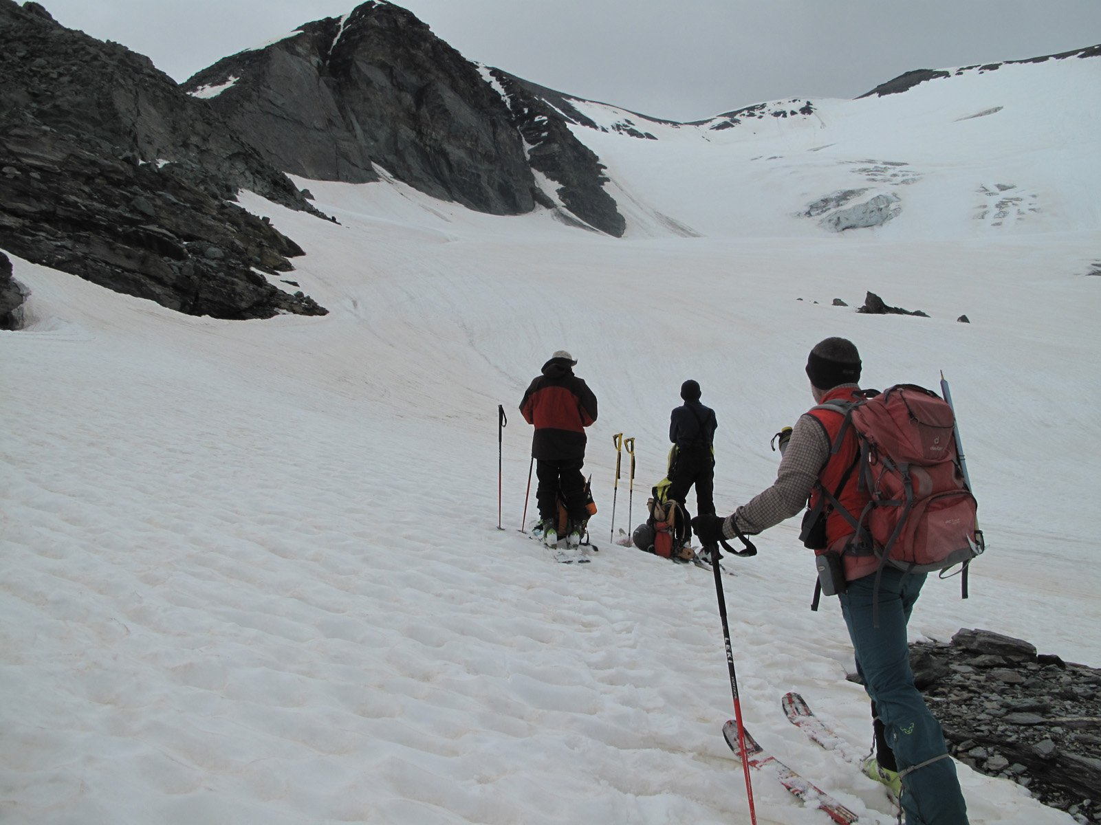 Sul ghiacciaio della Source de l'Isère