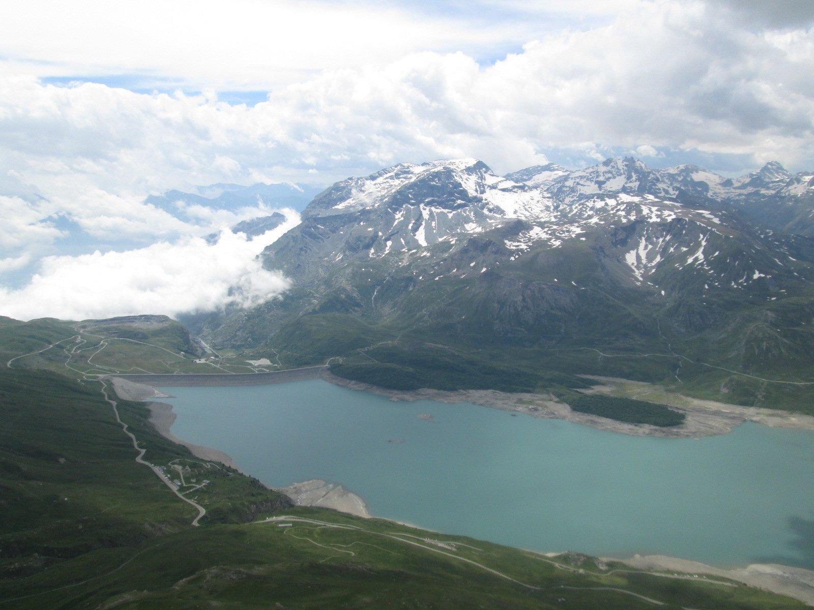 vista dalla cima sul Lago del Moncenisio