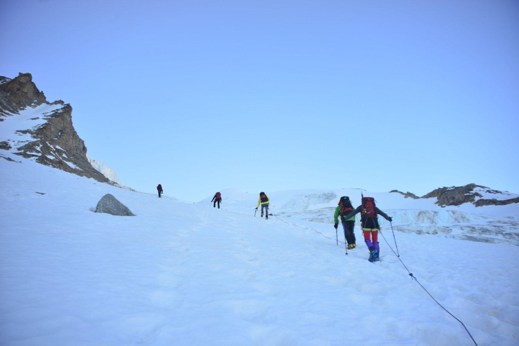 salita su ghiacciaio