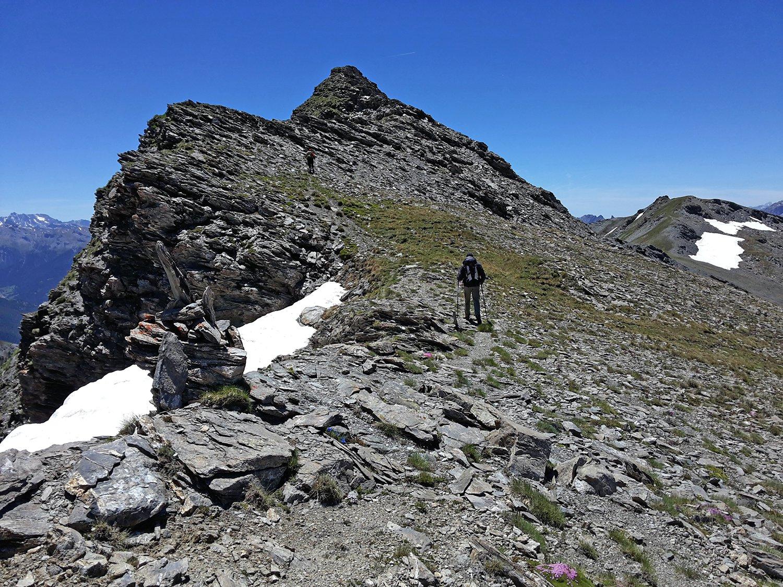Petit Rochebrune da les Fonts traversata O-E e anello 2016-07-03
