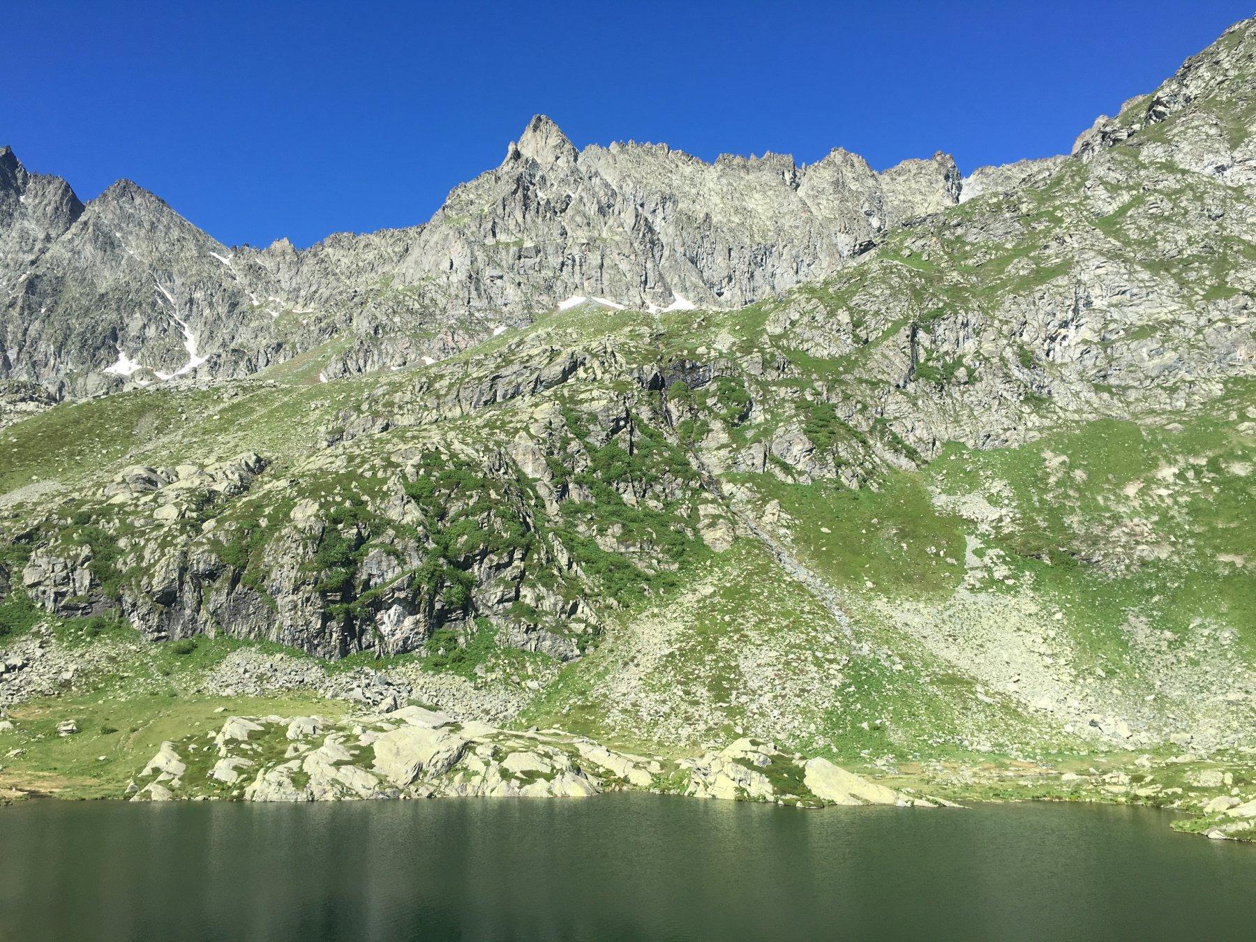 Lago superiore e punta Roma