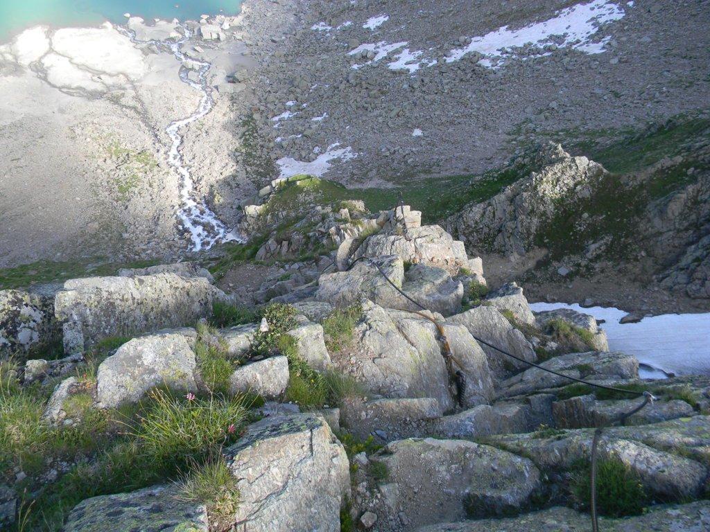tratto alto e finale del sentiero attrezzato