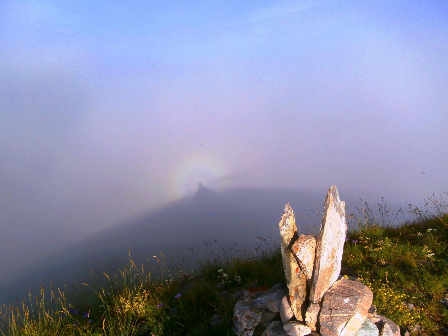 Spettro luminoso dalla cima