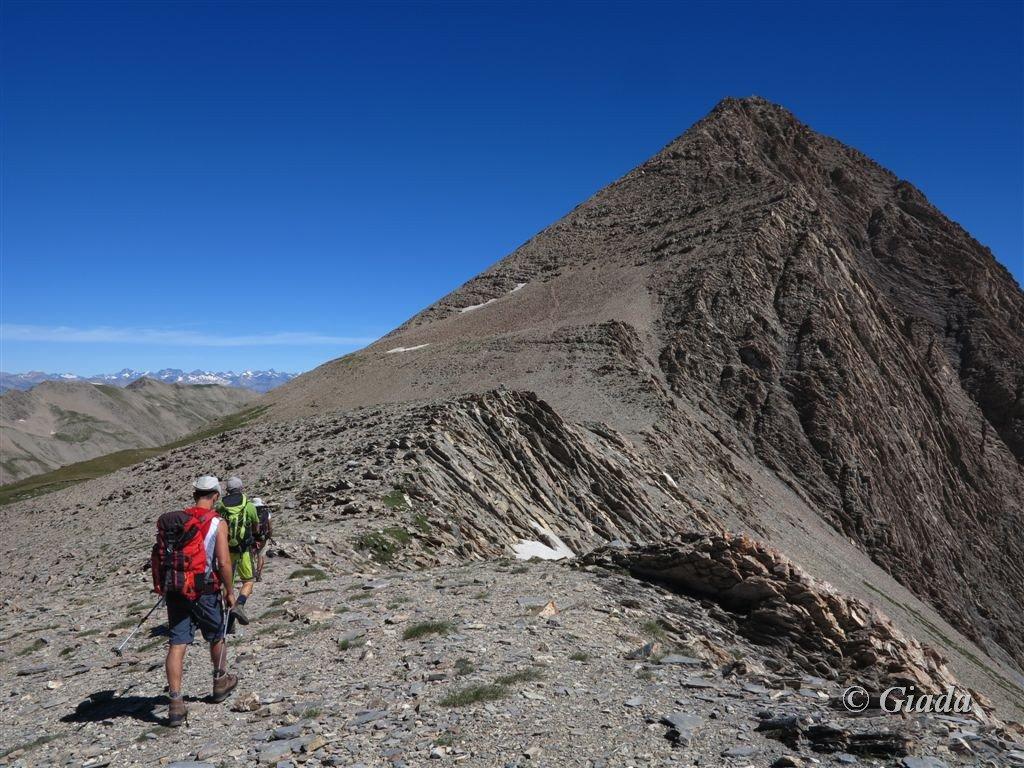 Verso la cresta sud, si vede il sentiero del primo tratto