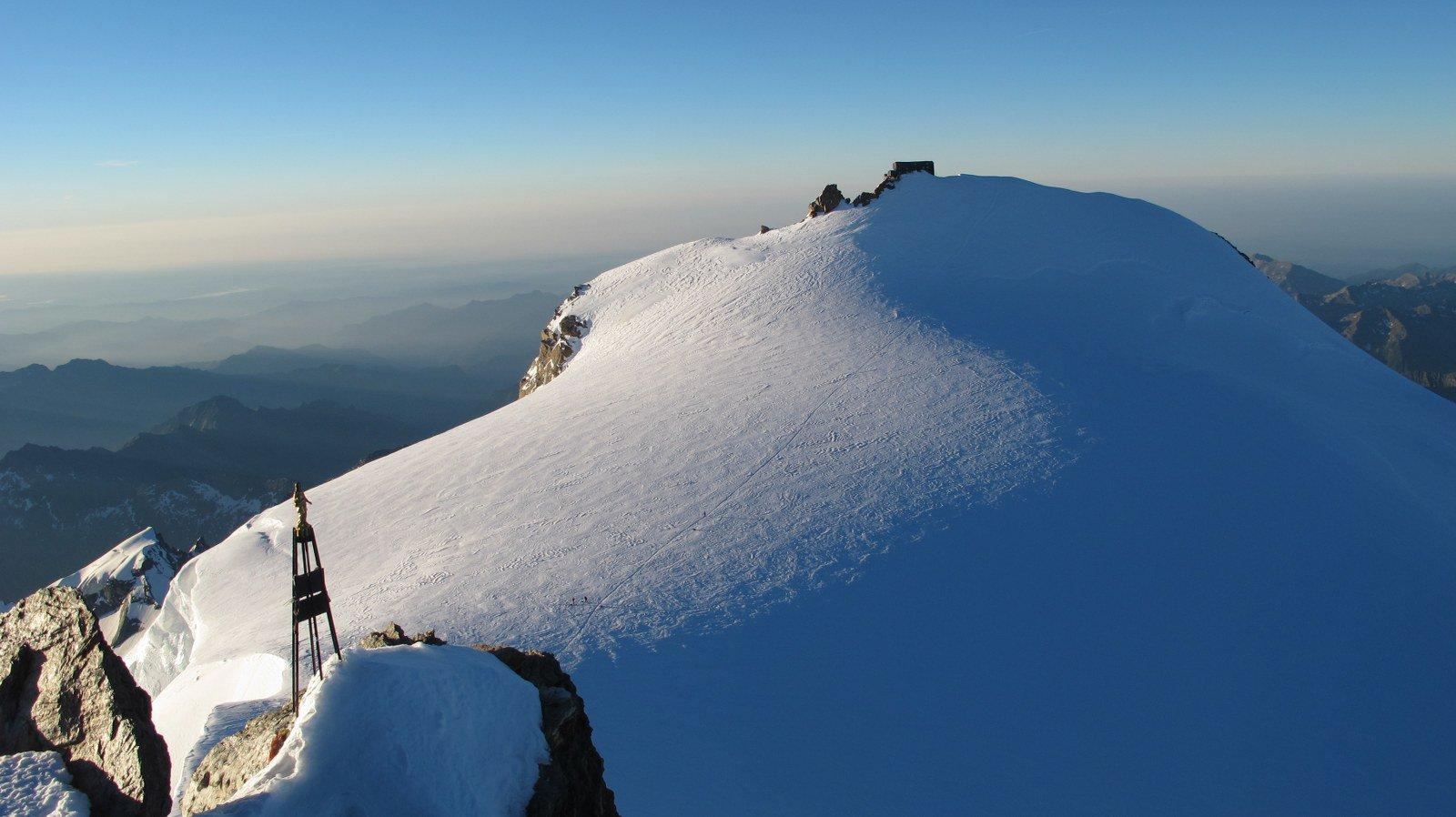 Dalla cima verso la Margherita