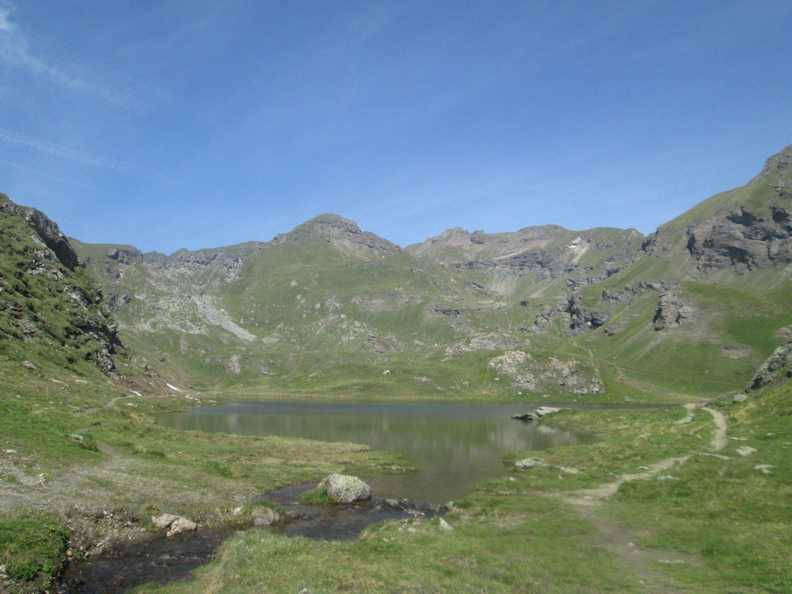 Lago Battaglia e parte superiore della gita...sullo sfondo la cima