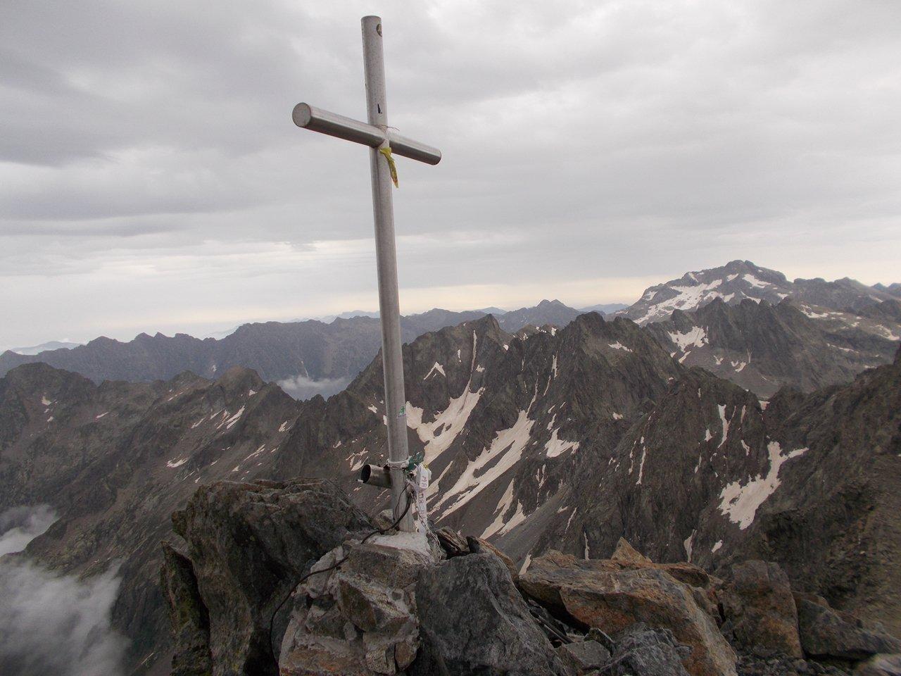 dalla cima ,vista su Gelas