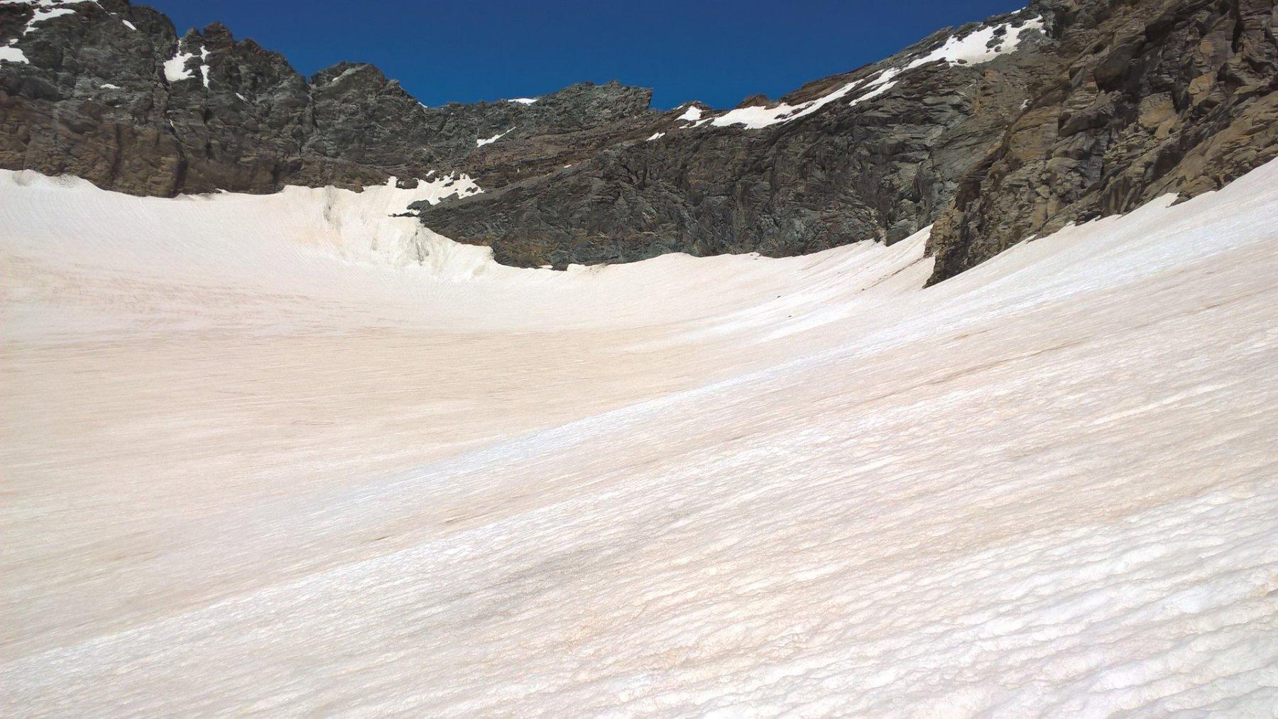il passaggio dal ghiacciaio verso la ovest