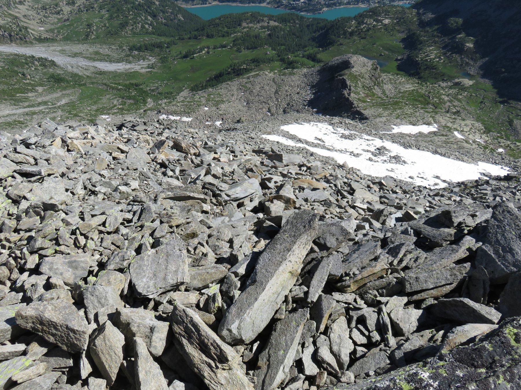 Vista dalla vetta del versante di salita