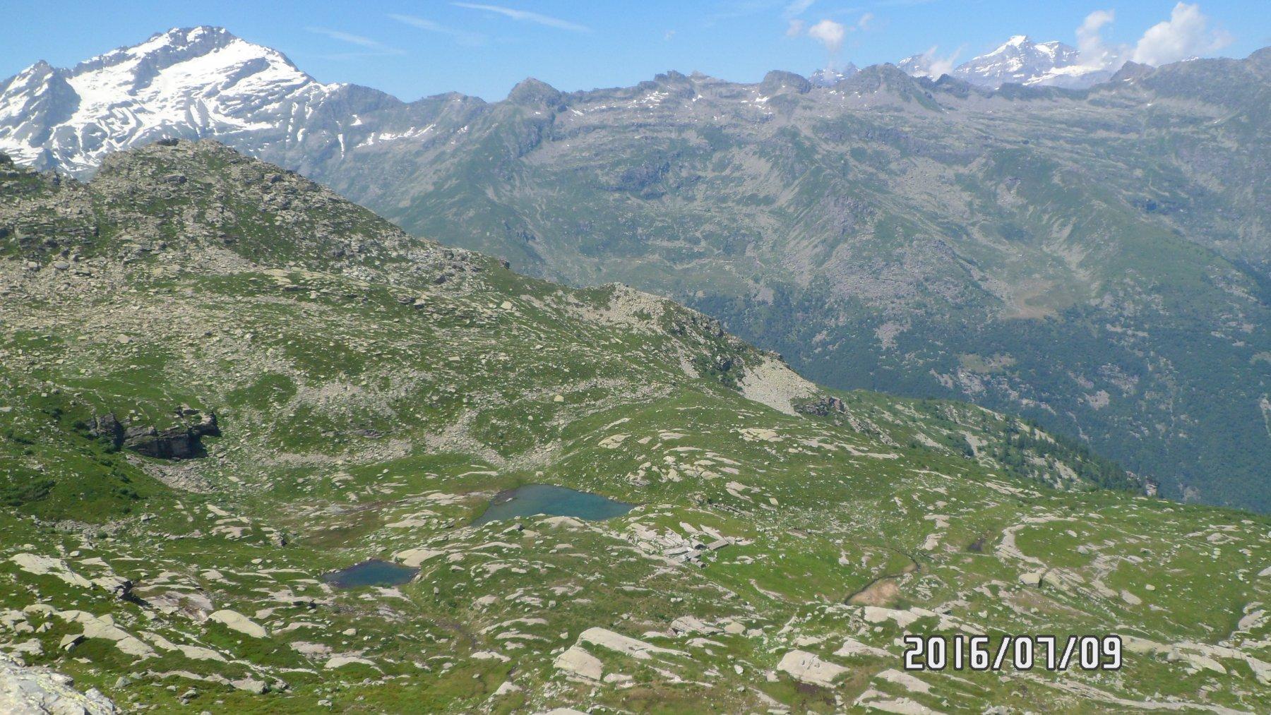 I laghi del Trione, la Levanna e il Gran Paradiso